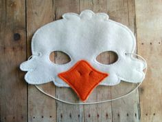 Hey, I found this really awesome Etsy listing at https://www.etsy.com/listing/238252215/eagle-felt-mask-elastic-back-white-and