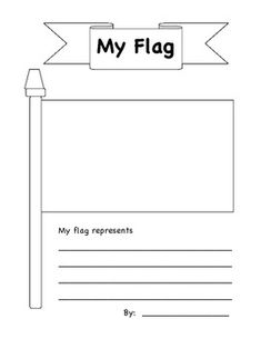this blank flag template can be decorated with the flag of any