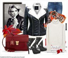 Stylizacja mięciutka kurtka damska ramoneska wiosenna jesienna ze skóry podszyta barankiem z duzym kołnierzem zapinana na zamek model #103 w sklepie fashionavenue.pl