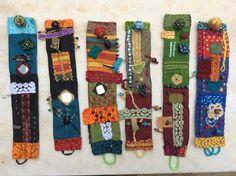 Textile bracelets by J.Kuderska