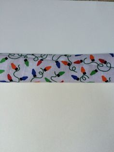 White with Christmas Lights Slide On Trach Tie Covers by colorfultrachties on Etsy