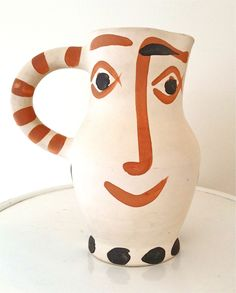 A Happy Picasso Ceramic Pitcher