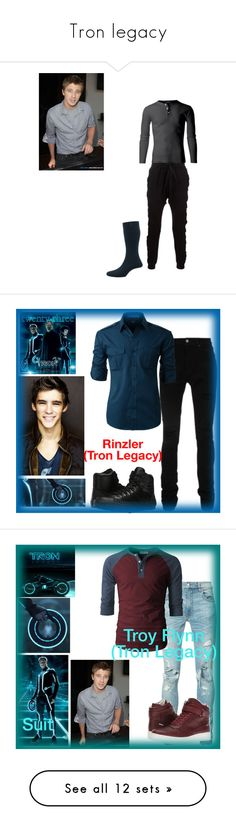 """""""Tron legacy"""" by ironkyle ❤ liked on Polyvore featuring Blood Brother, Pantherella, AMIRI, LE3NO, Converse, Identity, Calvin Klein, Simplex Apparel, NIKE and Philipp Plein"""