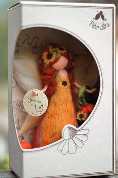 Autumn waldorf needle felted fairy, wool felt, figurine, sculpture, Autmn waldorf needle felted fairy wool felt by PETRUSKAfairyworld Wool Dolls, Felt Dolls, Needle Felted Animals, Felt Animals, Diy Arts And Crafts, Felt Crafts, Wet Felting, Needle Felting, Christmas Elf Doll
