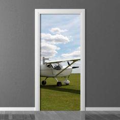 Fototapeta na drzwi Wally Airplane, Photograph, Windows, Sky, Doors, Decoration, Wallpaper, Inspiration, Home Decor
