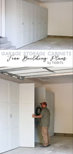 See Cabinet Storage Solutions For The Garage Unique Ideas. : See Cabinet Storage Solutions For The Garage Unique Ideas. Diy Garage Storage Cabinets, Easy Garage Storage, Garage Organisation, Garage Storage Solutions, Garage Shelving, Cabinet Storage, Storage Organization, Diy Storage Wall, Storage Ideas