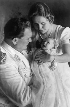Göring and Emmy with their only child Edda, 1938.