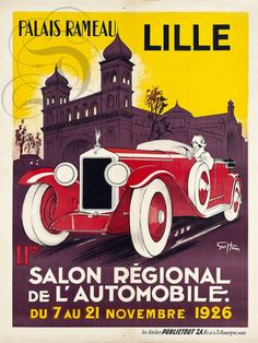 Lille Automobile Salon 1926 Vintage Poster Vintage Art Print Retro Style French Advertisement Free US Post Low EU post by CharmCityPosters on Etsy Poster Art, Retro Poster, Kunst Poster, Art Deco Posters, Car Posters, Poster Vintage, Vintage Travel Posters, Poster Prints, Art Prints
