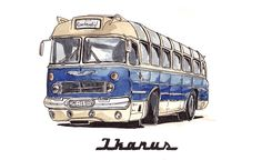 Some years ago at the beginning of my studies at Münster I worked a lot with watercolors. Found this bus today and though I prefer digital workflows now I still like it by stefan_g_h Bus Art, Toyota Tercel, Busses, Public Transport, Old Cars, Cars And Motorcycles, Insta Art, Vintage Fashion, Trucks