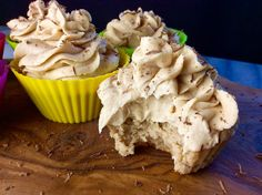 Food Fitness by Paige: Banana Cupcakes with Peanut Butter Frosting