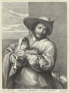Jean Pesne | François Langlois, genaamd de Chartres, Jean Pesne, Anthony van Dyck, 1633 - 1700 |