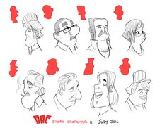 ArtStation - Sketches, Luigi Lucarelli Body Reference Drawing, Art Reference, Cartoon Body, Character Art, Character Design, Head Shapes, Inspirational Artwork, Cool Drawings, Luigi