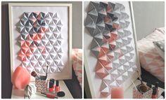 Tuto du Cadre origami 3D - DIY