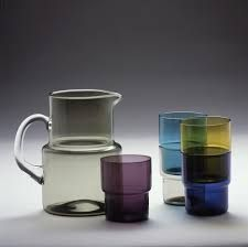 Saara Hopea 1953 Kitchenware, Tableware, Blown Glass Art, Glass Design, Ceramic Pottery, Finland, Arcade, Glass Vase, Interior Decorating