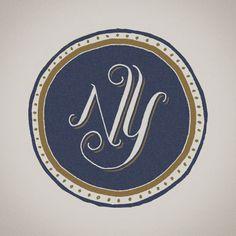 NY / Jon Contino : Navy & Gold