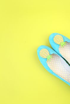 DIY Pineapple Shoe Clips Tutorial