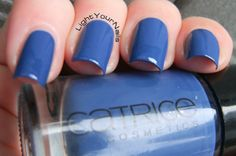 Discontinued Day: Catrice Pool Party at Night - Light Your Nails! #nails #nailpolish #Catrice #blue