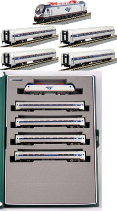 Starter Sets and Packs 22547: Kato 1068001 N Amtrak Ph Vi Acs-64 Loco And Four Car Set Bookcase 106-8001- New -> BUY IT NOW ONLY: $174.55 on eBay!