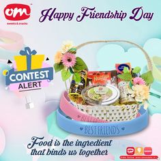 Om Sweets, Describe Your Best Friend, Friendship Day Special, Describe Yourself, Surprise Gifts, Squad, Don't Forget, Best Friends, Birthday Cake