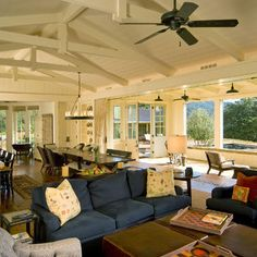 LOVE the ceiling and windows along whole wall  Open Floor Plan Design, Pictures, Remodel, Decor and Ideas - page 2
