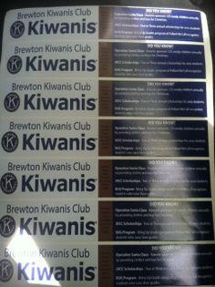 Water Bottle Stickers - Brewton Kiwanis Club
