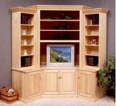 Fresh White Corner Media Cabinet
