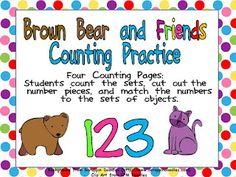 Kindergarten Celebration: Brown Bear Counting FREEBIE :)