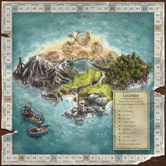 Die Insel-Expedition — board game design on Behance