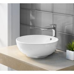 Shop Swiss Madison Sublime® Round Ceramic Bathroom Vessel Sink Bowl - Free Shipping Today - Overstock - 17024632