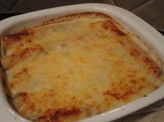 white cheesy chicken enchiladas