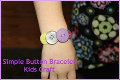 Simple Button Bracelet Craft for Kids -- Mother's Day Gift