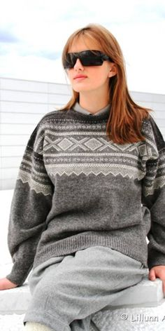 Marius in shades of grey Nordic Sweater, Grey Sweater, Norwegian Knitting, Knitting Designs, Shades Of Grey, Jumpers, Sorting, Knitwear, Turtle Neck