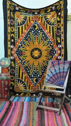 9e0ceba4e18c Burning Sun Tapestry Dorm Decorative Wall Hanging Twin Bohemian Beddin