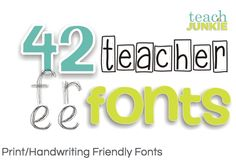 Free Font Madness: 42 Free Teacher Fonts