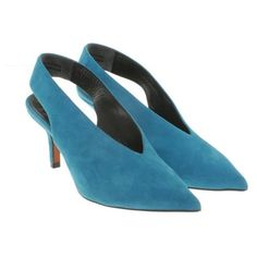 Pre-owned pumps from suede (18.855 RUB) ❤ liked on Polyvore featuring shoes, pumps, blue, celine pumps, pre owned shoes, suede leather shoes, blue pumps and celine shoes