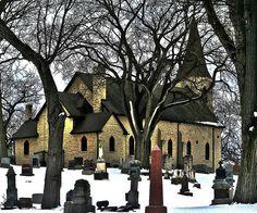 ~~St. James Church, c. 1833  ~Lemont, IL