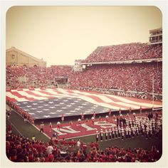 Pretty awesome way to start last season at Camp Randall. #badgers
