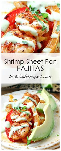 shrimp sheet pan fajitas recipe shrimp peppers and onions roasted in the oven
