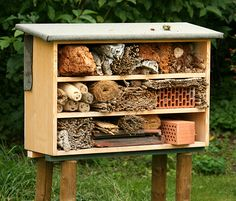 gartenzei … images my pictures animals insect – Modern Bug Hotel, Garden Insects, Garden Bugs, Wild Bees, Mason Bees, Bee House, Bee Skep, Hotel California, Beneficial Insects