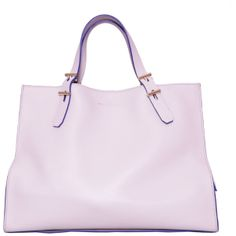 Desa Seven Spring-Summer 2014 Tote with Double Handle in Lilac