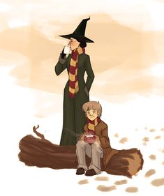 After a full moon, McGonagall would always be waiting for Remus with warm clothes and a Hot Chocolate and no one can tell me otherwise. Cuteness overload