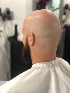 Bald Men With Beards, Bald With Beard, Shaved Head With Beard, Bald Guy, Bald Look, Romance Art, Bald Hair, Male Pattern Baldness, Edgy Hair