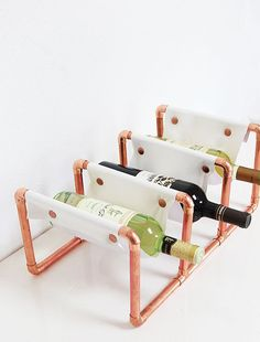 DIY Copper Wine Rack