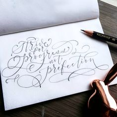 Likes, 19 Comments - Minortismay Pencil Calligraphy, Calligraphy Cards, Calligraphy Handwriting, Calligraphy Alphabet, Penmanship, Handwritten Quotes, Hand Lettering Quotes, Creative Lettering, Lettering Design