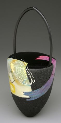 Layered Fragments Cone Purse, colored polymer and rubber