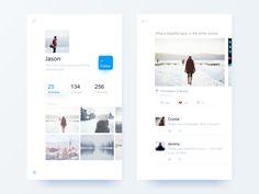Social App Ui Design by Jian #Design Popular #Dribbble #shots