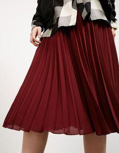 bershka falda plisada