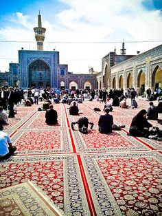 Imam Reza in Mashhad, probable one of the most awing places I've ever been