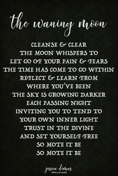 ☽✪☾...Waning Moon self-care ritual