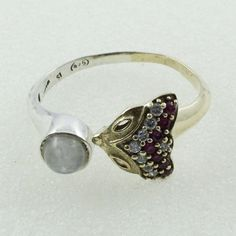 CRAETURE DESIGN !! MULTI STONE AMAZING LOOK 925 STERLING SILVER RING #SilvexImagesIndiaPvtLtd #Statement